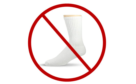 Avoid White Socks
