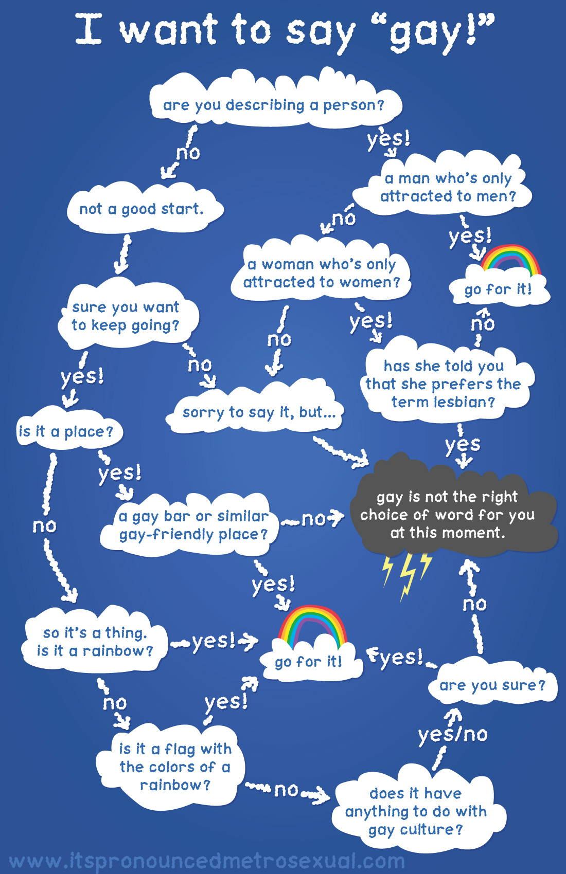 """I want to say gay"" Flowchart"