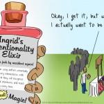 """Ingrid's Intentionality Elixir"" Comic"