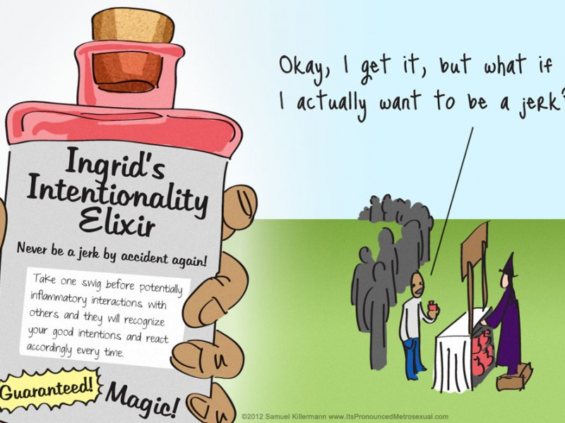 """Ingrid's Intentionality Elixir"" Comic"