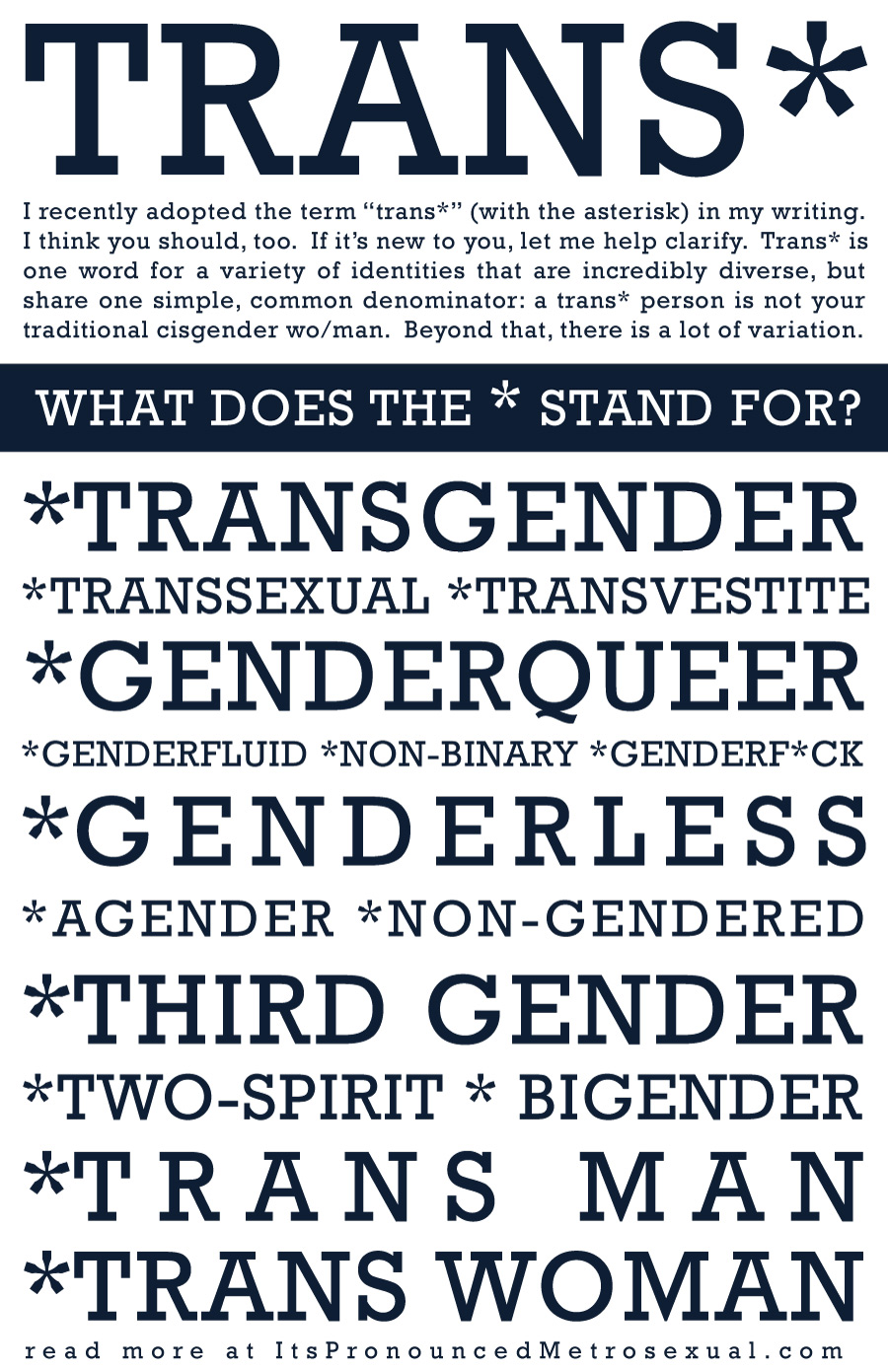 """Trans*"" Poster"