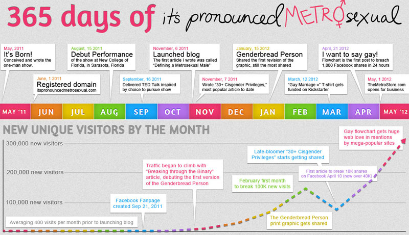 365 Days of It's Pronounced Metrosexual Infographic