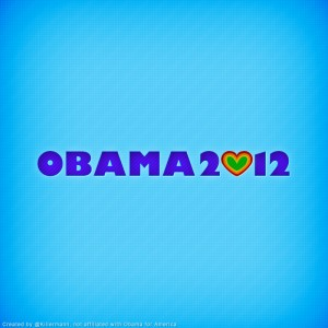 Obama 2012 Heart