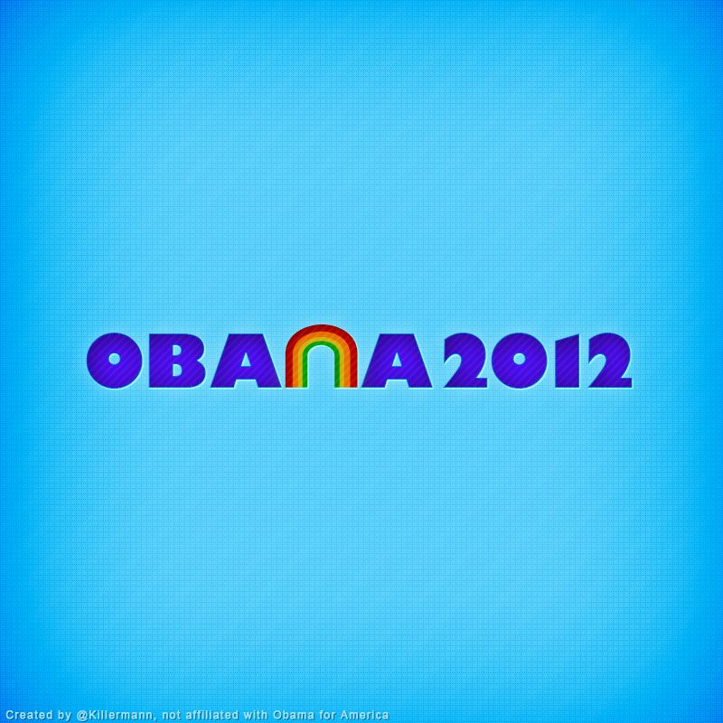 Obama 2012 Rainbow