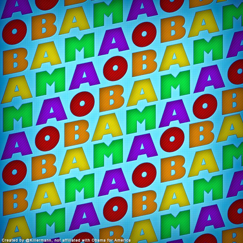Obama Letter Rainbow