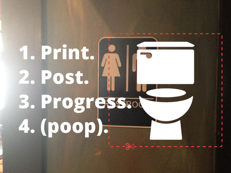 picture regarding Printable Protest Signs titled Guerrilla Activism: Printable Gender Impartial Rest room Signs and symptoms
